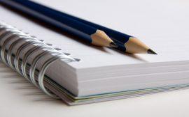 Block och penna