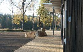 Nybyggnation på en av alla de fina tomter som kommunen har att erbjuda