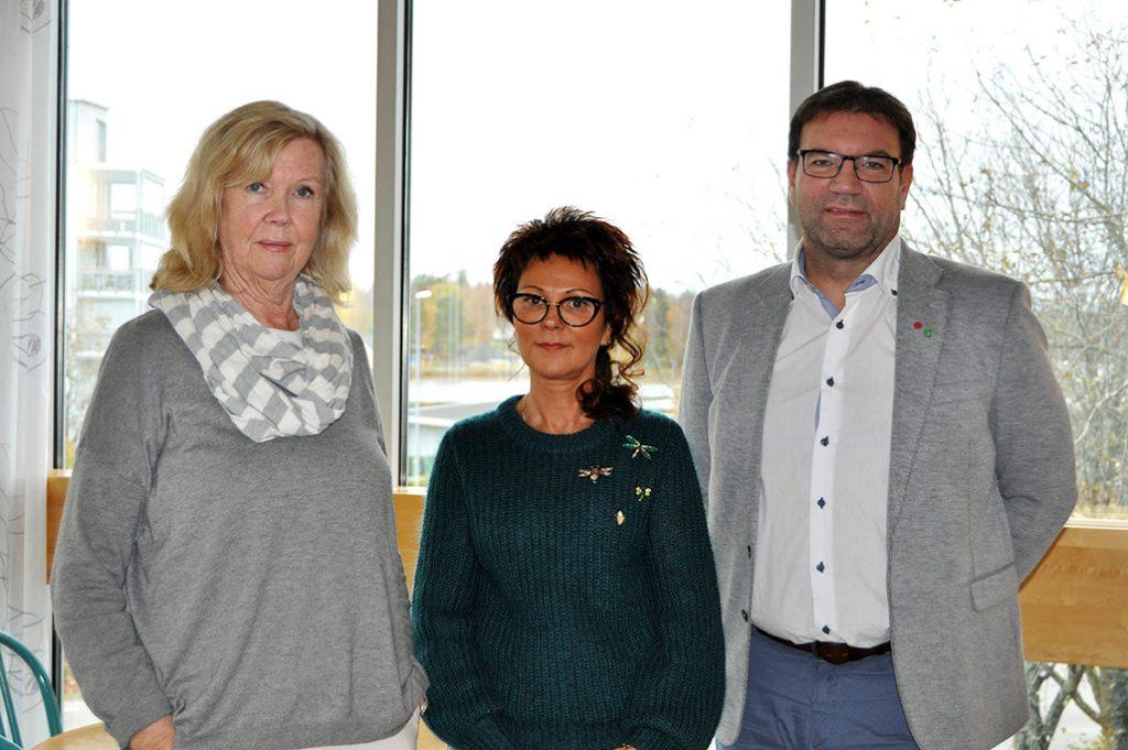 Gunilla Blomgren (L), Erene Bertilsson (KD) och Tony Hansen (S)