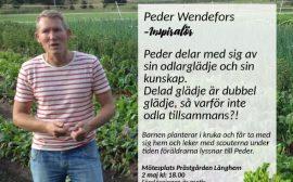 Peder Wendefors håller en föreläsning om odling