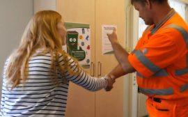 Skåpet TAGE är på plats på förskolan i Sjötofta
