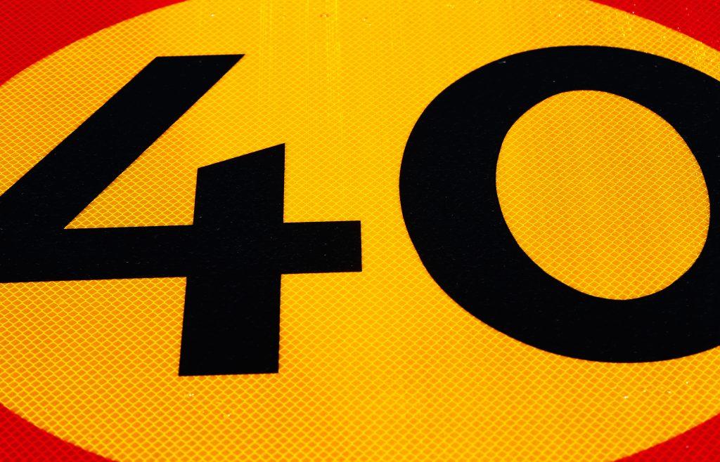 Trafikskylt som visar 40 km