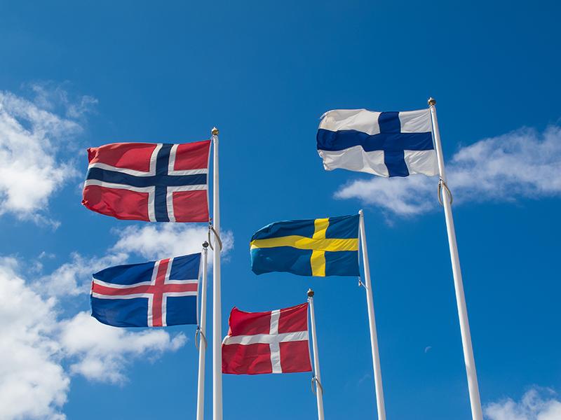 De nordiska ländernas flaggor