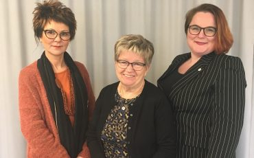 Irene Bertilsson (KD), Lena Eksberg (S) och Karin Peterson (M)
