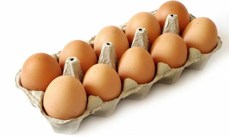 Ägg i en kartong
