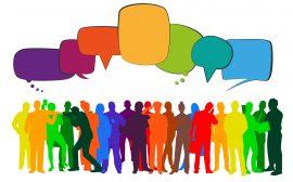 Bild på människor som dialogar.