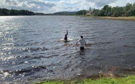 Bad i Tranemosjön