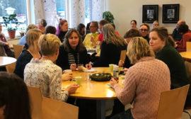 Projekt firas med tårta på Tranängskolan