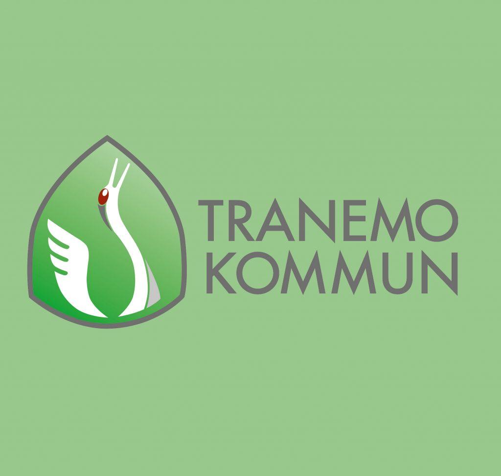 Tranemo kommuns logga på grön bakgrund