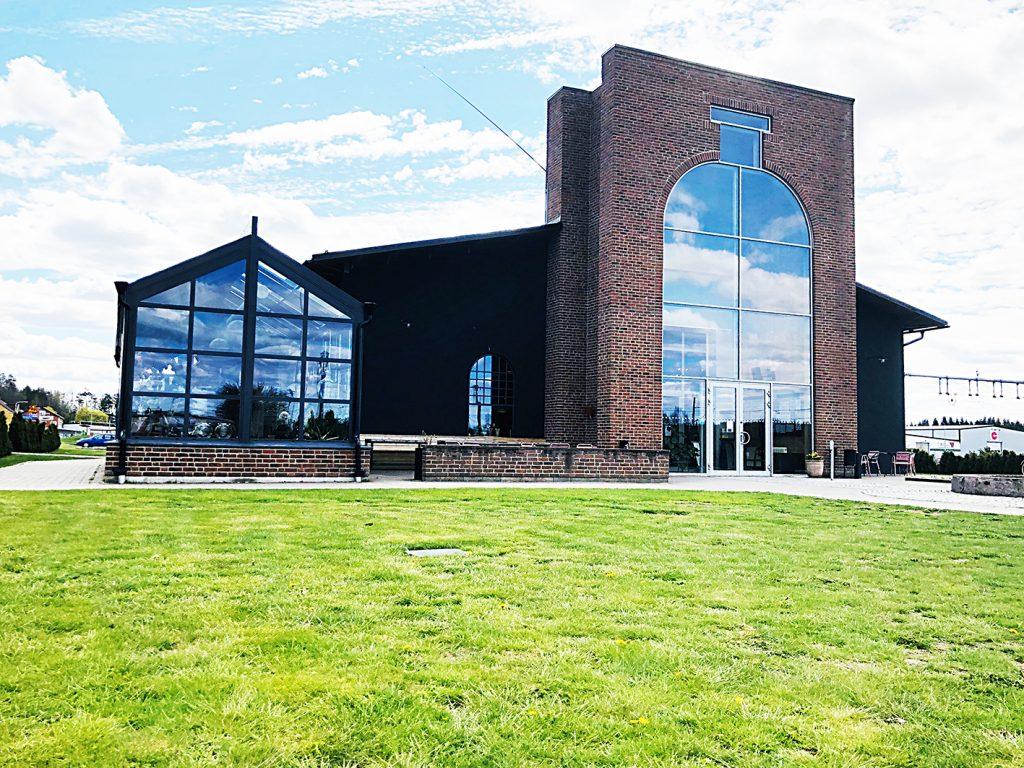 Fasaden av Glasets hus