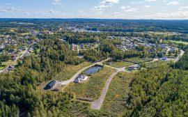 Flygfoto över Silverdalen