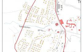 Karta över östra delen av Tranemo