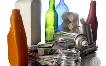 Tidning, kartong, glas, plast och aluminium