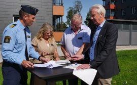 Polisen, Tranemobostäder och Tranemo kommun undertecknar Medborgarlöftet